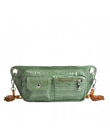 HVISK Brillay croco tas dusty green