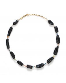 Anni Lu Rock & Sea ketting parels black