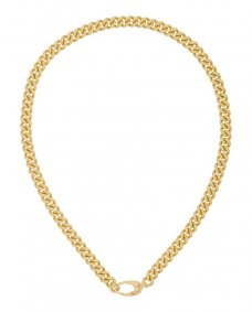 Fashionology Curb necklace gold ketting