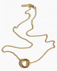Fashionology donut ketting gold