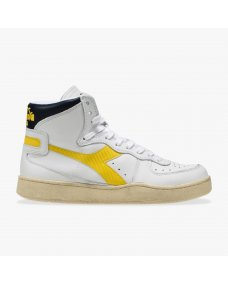 Diadora Mi basket used sneakers white / black iris / golden rod