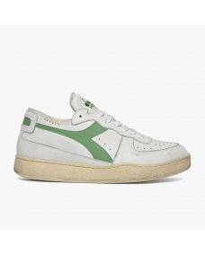 Diadora Mi basket row cut lage sneakers white / stone green