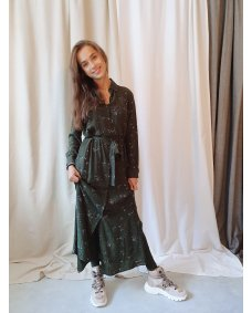 Moscow design FW19 28.02 jurk print forest night