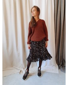 Moscow design FW19 22.06 rok print coffee / earth