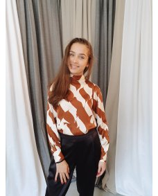 Second Female Distance blouse print tortoise shell