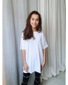 American Vintage SON33BE oversized top blanc