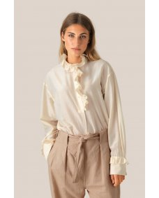 Second Female Frillo blouse eggnog