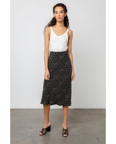Rails London midi rok black ivory spots