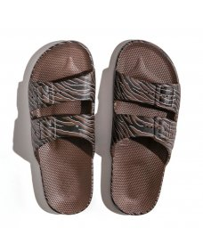 Moses Moses fancy slippers zebra choco