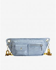 HVISK Brillay croco tas dusty blue