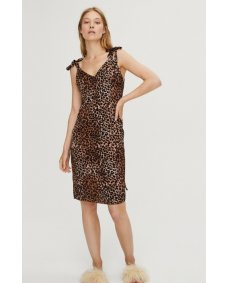 LOVE stories SS19 Cara jurk leopard brown
