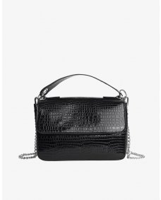 HVISK Dally croco tas chain black
