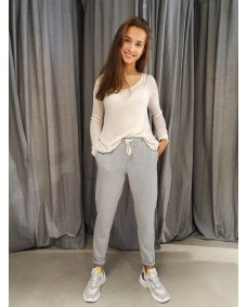 American Vintage FW19 FEEL199 feelgood jogger gris chine