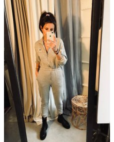 American Vintage OMI12 polaire chine jumpsuit
