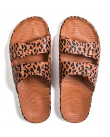 Moses fancy slippers print leo toffee