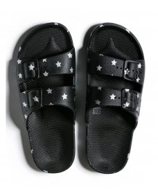 Freedom Moses sandalen print silver stars
