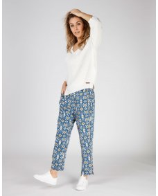 Moscow design SS19 25.03 broek print bombay blue