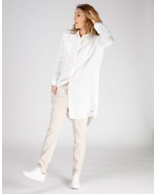Moscow design SS19 33a.03 lange blouse off white