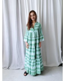 Devotion Long dress Zakar green / mint 020359G jurk afroditi