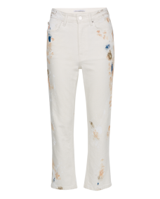 Zoe Karssen Straight up painted jeans off white