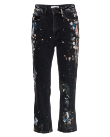 Zoe Karssen Straight up painted jeans washed black