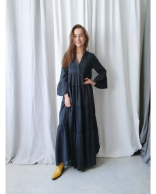 Devotion Long dress Ella 0203092G jurk carbone