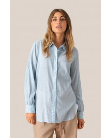 Second Female Dominus blouse chambray blue
