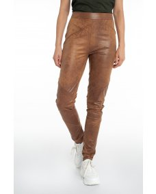 Moscow design 20.02 leer look legging leather
