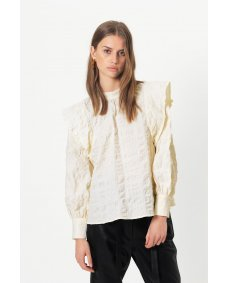 Second Female Kale antique white blouse