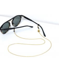Sunny Cords SS19 Snake round sunglasses cord gold