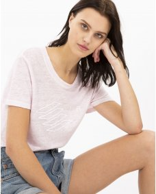 Iro Paris SS19 Lucie T-shirt blush pink