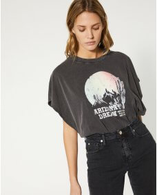 Iro Paris Smoky T-shirt print black stone