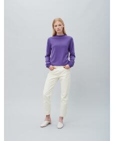 Peoples republic cashmere Womens roundneck cashmere trui grape