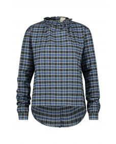 Penn & Ink FW19 W19T283 top check moonlight