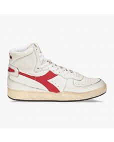 Diadora Mi basket used sneakers white / garnet