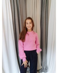 Samsoe Samsoe abby sweater bubble gum pink