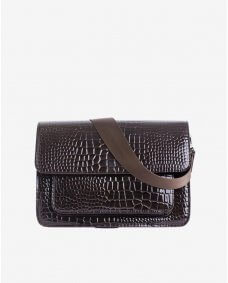 HVISK Basel croco dark brown tas